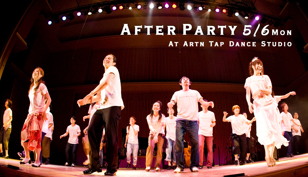 After Party 5/6 Mon. At Artn Tap Dance Studio